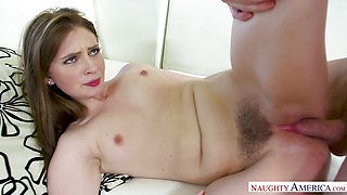 Hot Maya Kendrick wakes up Ryan sucking his cock
