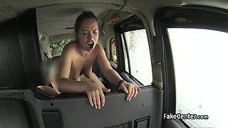 Chubby milf hard fucked in taxi