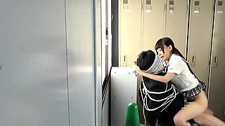Jav Idol Schoolgirl Fucks Bound Guy With Big Cock