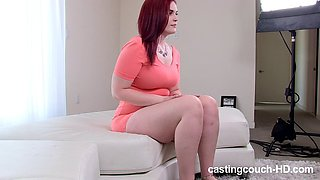 Redhead Chubby Stacy doggystyle pounded interracial porn