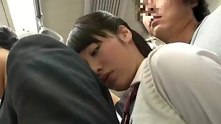 Innocent schoolgirl immediately molested in the train without notice 3
