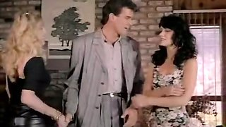 Bad girls from 1970s porn seduce their future boss