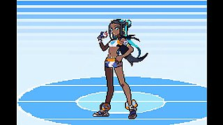 Pokemon Gym Leader Nessa Sucks and Gets Creampie From Young Trainer