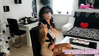 German big tits femdom milf smoke fetish