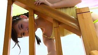 Jav Amateur Debut Teen Yoko Kondo Teases Stripping