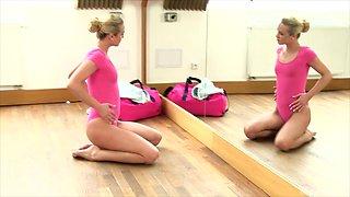 Cristal Caitlin is a hot dancer enjoying a massive dildo