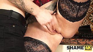 SHAME4K. Lovely MILF is trying to be a great neighbor for handsome guy