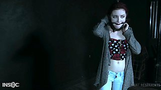 Ginger babe Lola Fae gets punished and toyed in the dark BDSM room