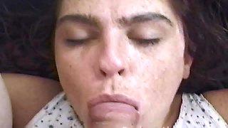 Danielle swallows