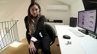 BITCHES ABROAD - Asian teen tourist May Thai gets fucked POV