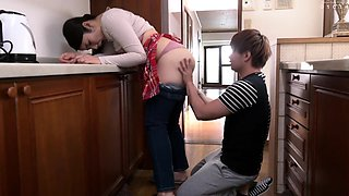 Lonely and lustful Oriental wife fucked by her young lover
