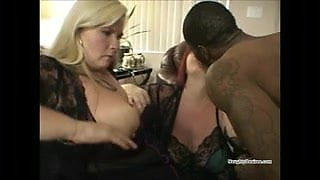 Black guy fucks two BBW cougars