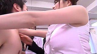 Amazing Japanese girl Risa Murakami, Leila Aisaki, Akari Hoshino in Crazy Hardcore, Handjobs JAV scene