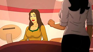 Superb Indian MILF Cartoon Porn Animation