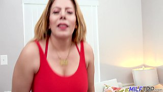 BBW cougar from Mexico Nicky Ferrari is fucked in mouth and pussy