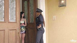 Whitney Wright sucks big clit of sexiest policewoman Mercedes Carrera