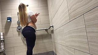 princesspawg gym shower striptease