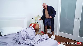 Nasty wife Moriah Mills waits to be fucked by a long manhood