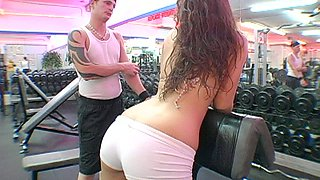 She got fucked in her sexy butthole in the gym