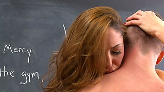 A kinky thing is caught cheating on the test by her teacher
