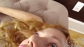 Redhead Sleeping Mother After Oral Sex Substitutes Pussy For Vaginal