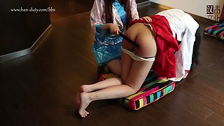 Strict domestic discipline for asian teen