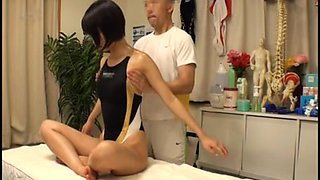 Schoolgirl Swimsuit Massage 1of4 censored ctoan