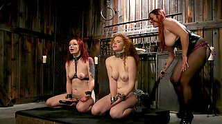 Steamy femdom threesome leads both slave girls to insane pleasures