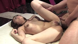 Boy potently gets it on with skillful butthole of sultry Asian