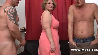 Sophia - French Mature BBW Gangbang