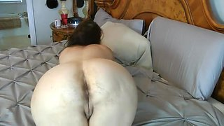 one more old woman showing her hairy ass