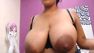 Huge milky tits latina lactating in webcam UPDATE HD