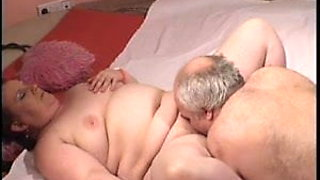 Straight older couple with handsome Chubby Daddy