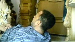 Arab guy fucks a girl upskirt missionary on the floor