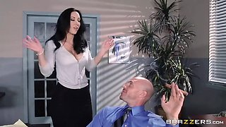 Boss fucks his hot secretary on the office table