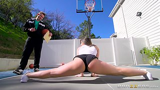 Playing basketball with Abella Danger makes a guy hard and hungry for her ass
