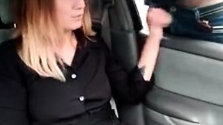 Brunettes public flashing and blowjob