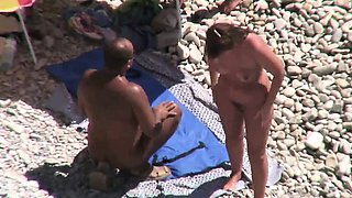 Nudist wife shared by husband on nudist beach