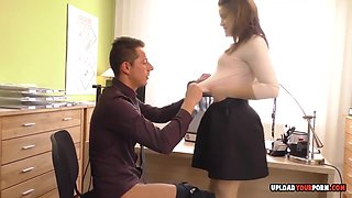 Evelina Darling and Kitten in Kinky office babe works hard for her promotion