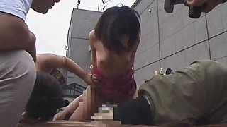 Naughty Japanese AV model is a hot milf fucking in public