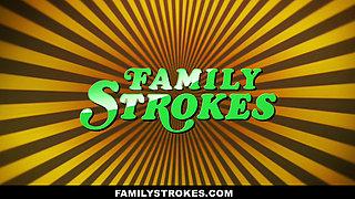 FamilyStrokes - Pounding His College Stepsis