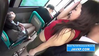 Slutty Asian Babe Fucked On The Public Bus