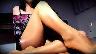 Glass Legs Foot Tease Premium Pantyhose