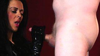 CFNM femdom humiliating restrained sub
