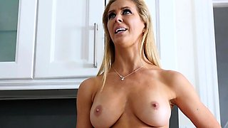 MILF Cherie bangs her husbands brother Mike in the kitchen