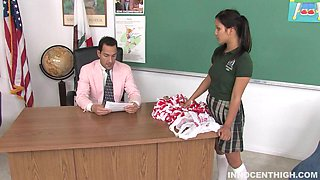 Pigtail Teen Gets The Fuck Out Of Trouble With Her Teacher