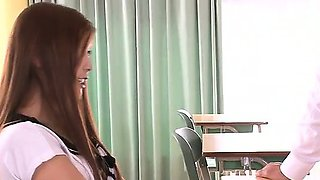 Steamy fuck at school with insolent Nozomi Nishiyama