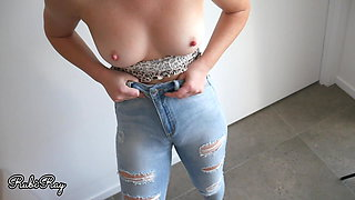 Stepsister Makes Me Cum in Her Panties and Jeans