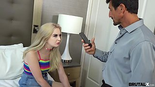 Misbehaving teen stepdaughter Lexi Lore is punished by old daddy Tommy Gunn