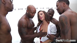 Brutal monster cock anal gangbang with Keisha Grey